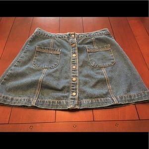 💕F21 Button front denim jean shirt